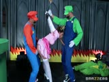 Mario et Luigi baisent la princesse