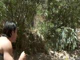 Sienna West dans la forêt